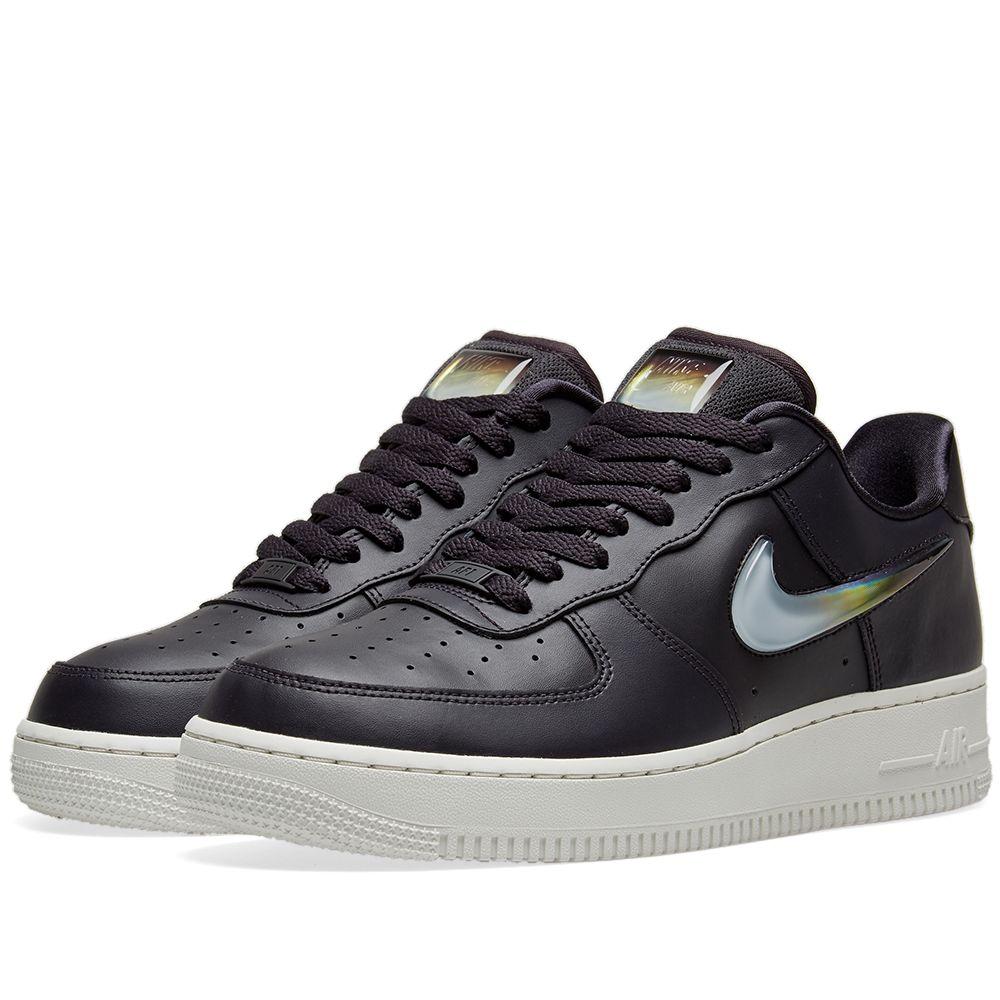 on sale ee5fe 92981 Nike Air Force 1 07 SE Premium W Grey, Crimson  Obsidian  EN