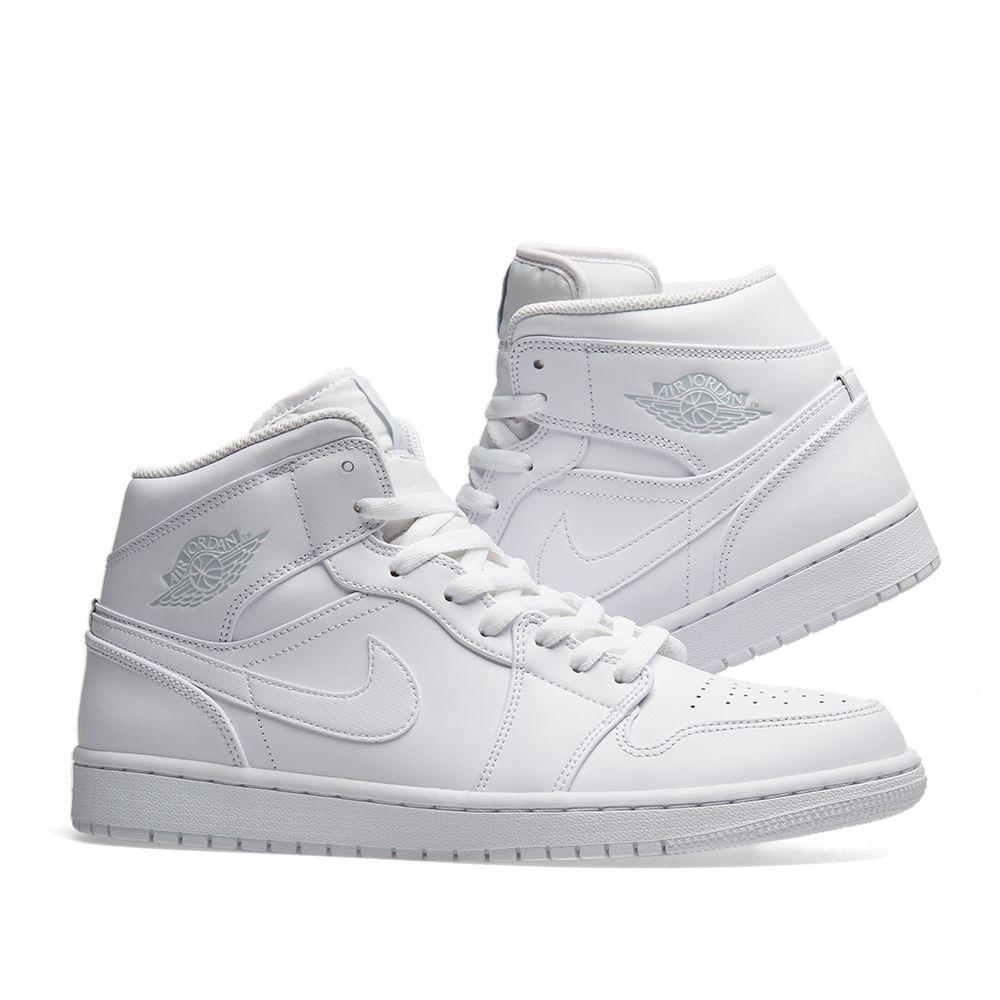20072d0644e Air Jordan 1 Mid White   Pure Platinum