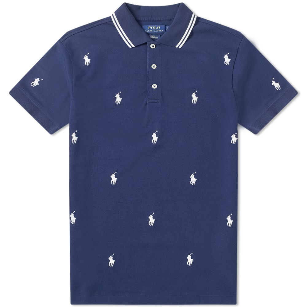 1929354b286 Polo Ralph Lauren All Over Embroidered Polo French Navy