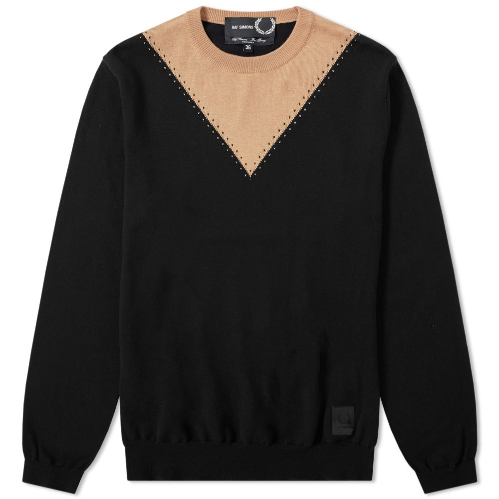 Raf Simons X Fred Perry Stitch Detail Crew Knit by Raf Simons