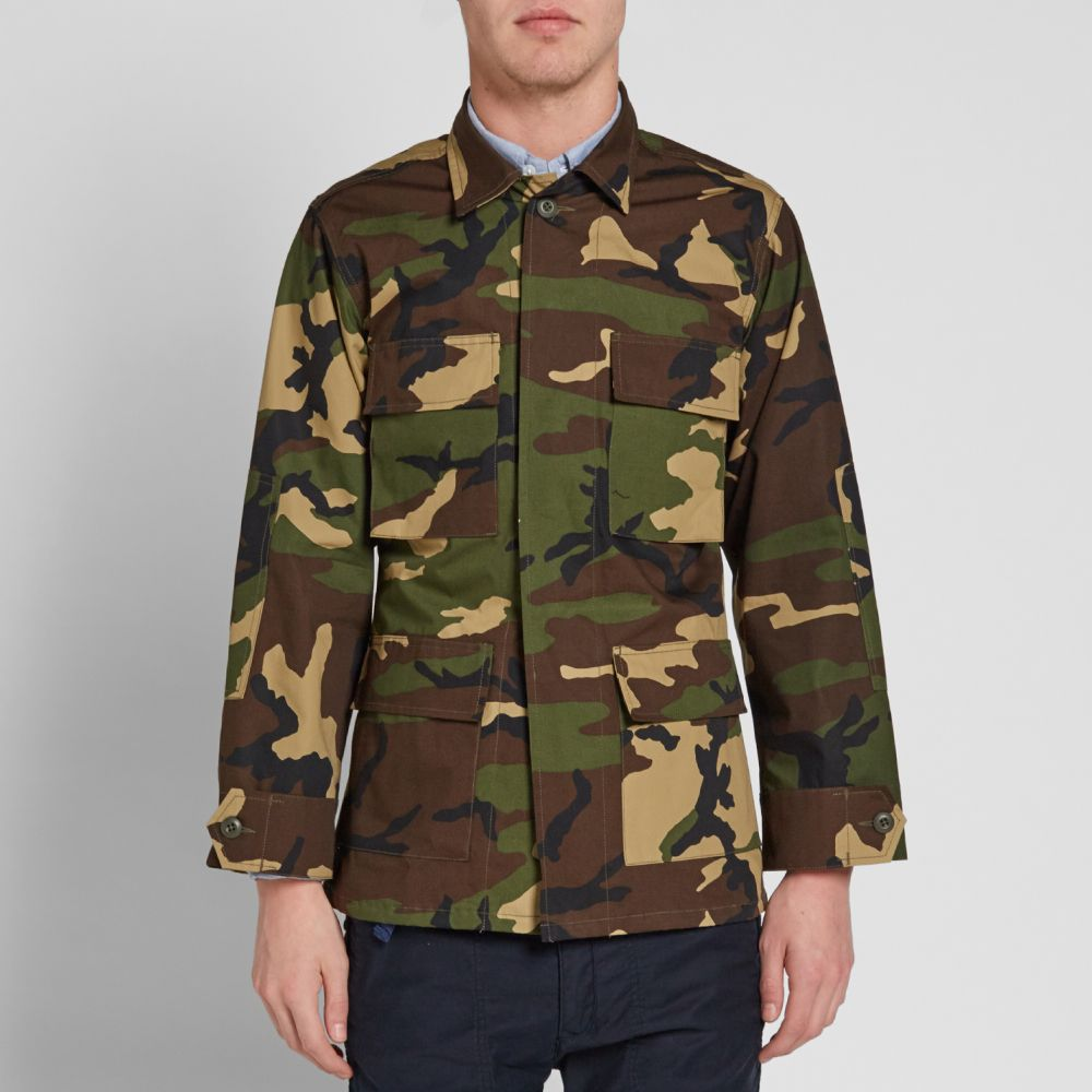 7832523b80 SOPHNET. Military 4 Pocket Shirt Camouflage