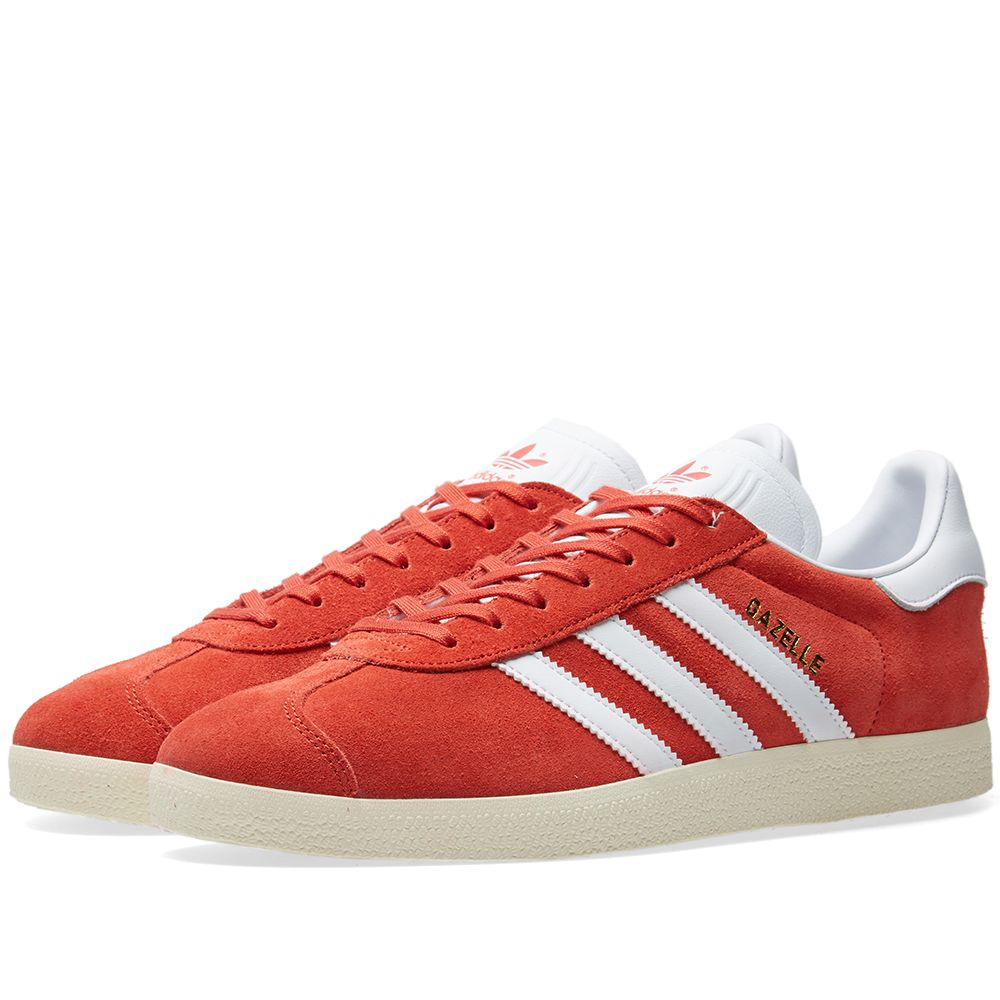 pretty nice 25603 9f0ae Adidas Gazelle Tactile Red, White  Cream  END.