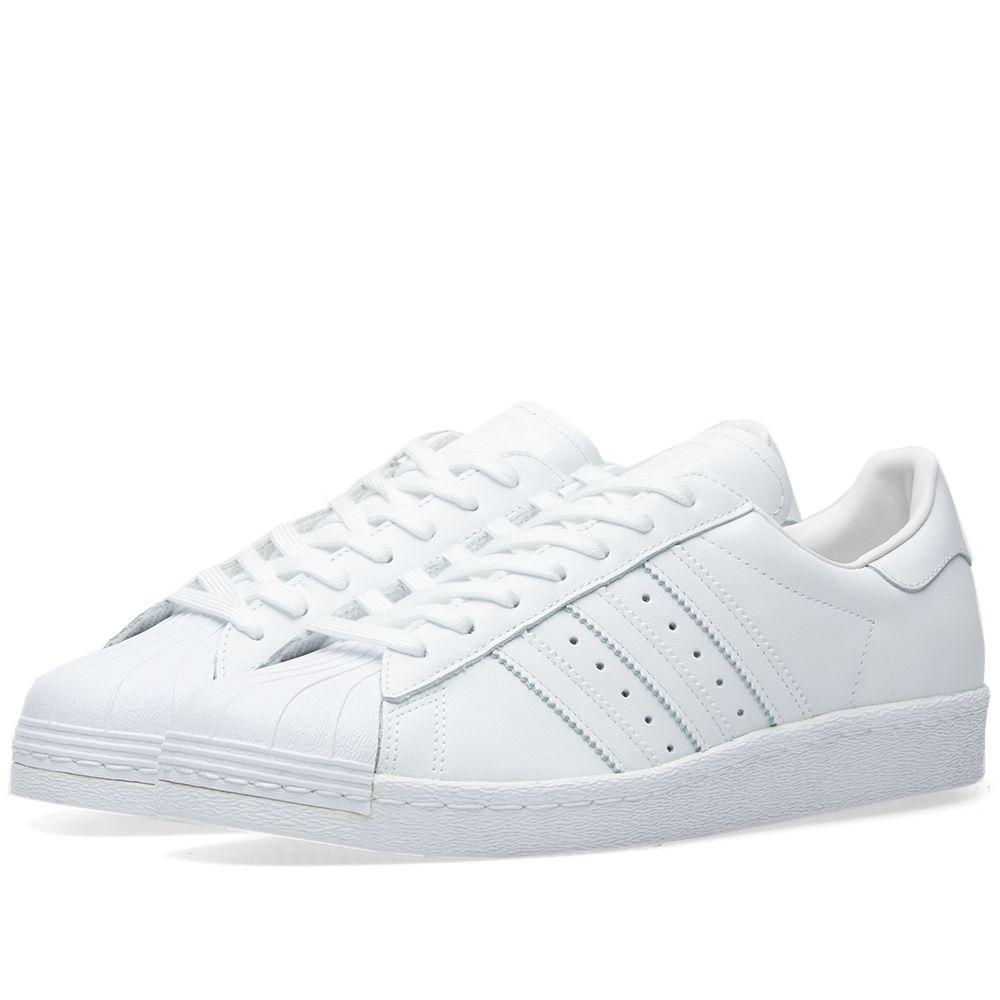 Adidas Superstar 80s White   Core Black  2291397d61c