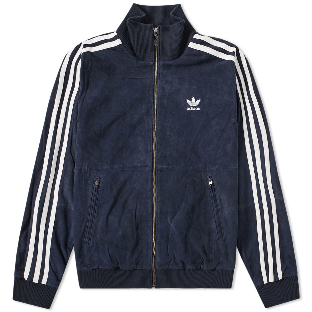1dd7875914 Adidas Suede Track Jacket Navy