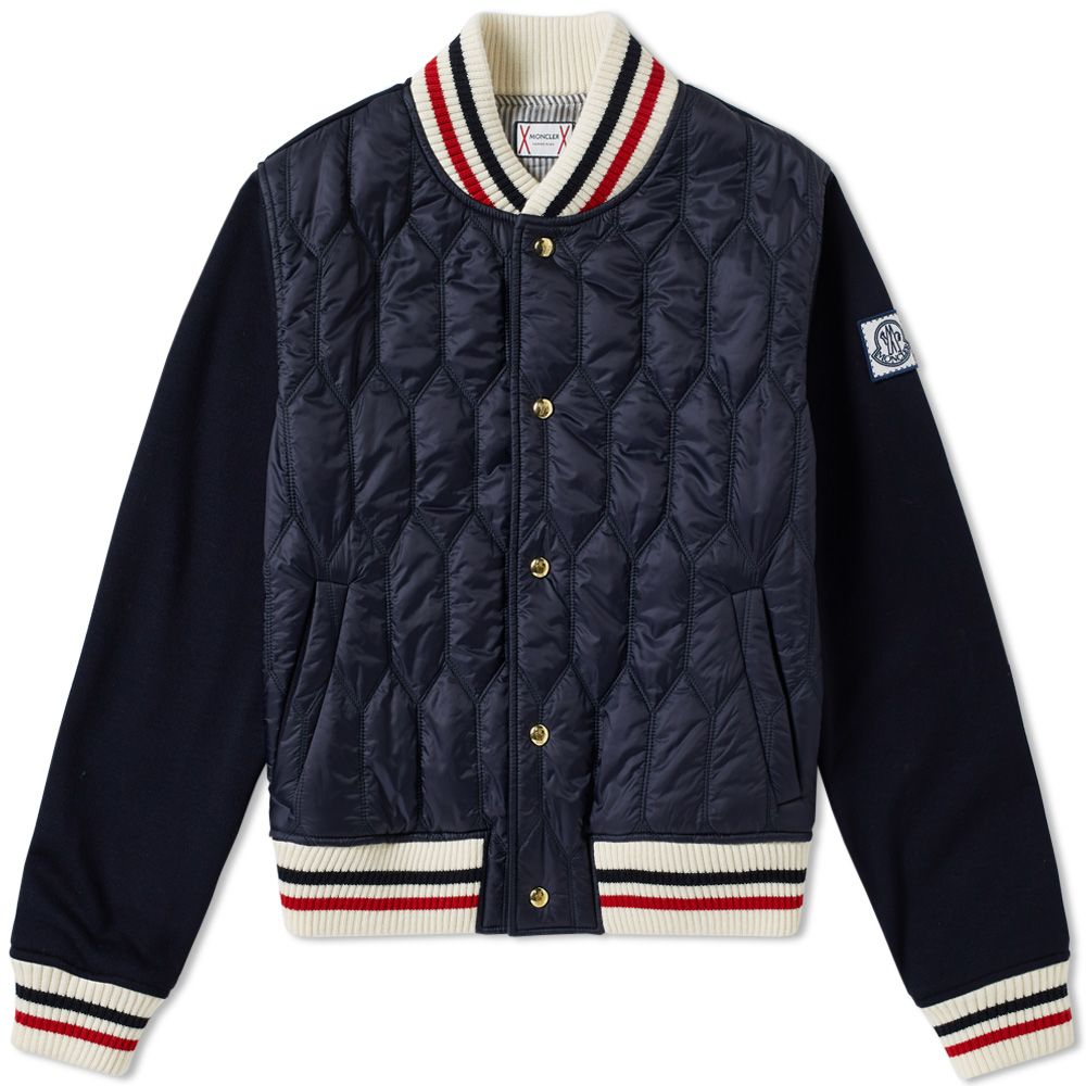 0f311c1ed Moncler Gamme Bleu Nylon Jersey Bomber Jacket