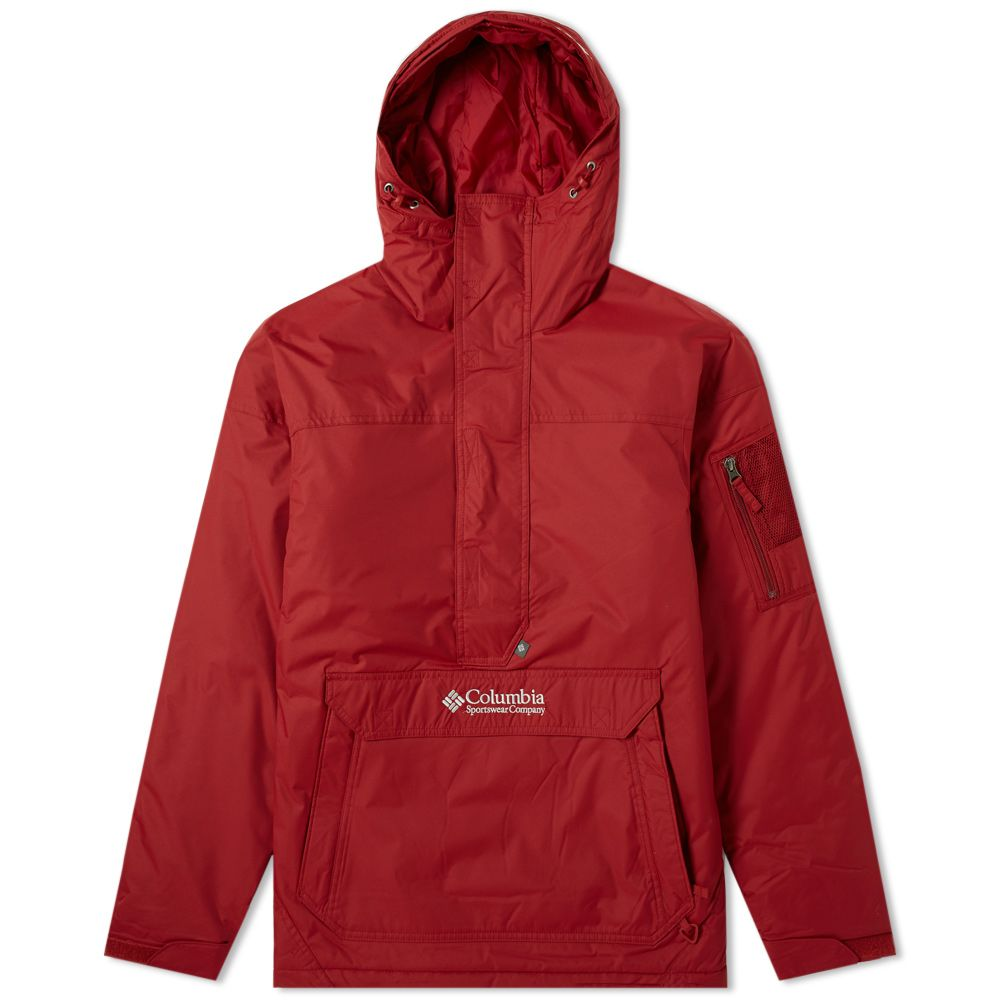 530189311206e Columbia Challenger Pullover Jacket Red Element   Soft Metal