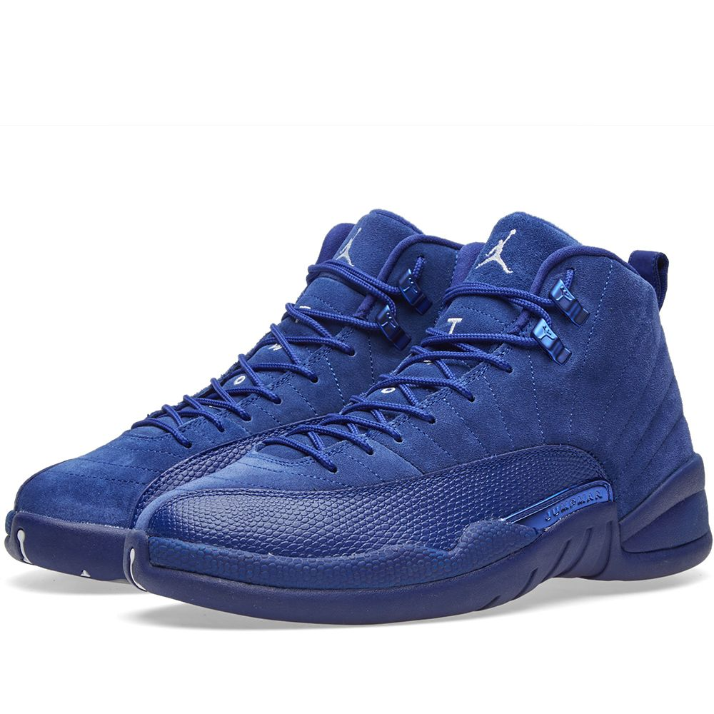 2d4ed693649e Nike Air Jordan 12 Retro Deep Royal Blue   White