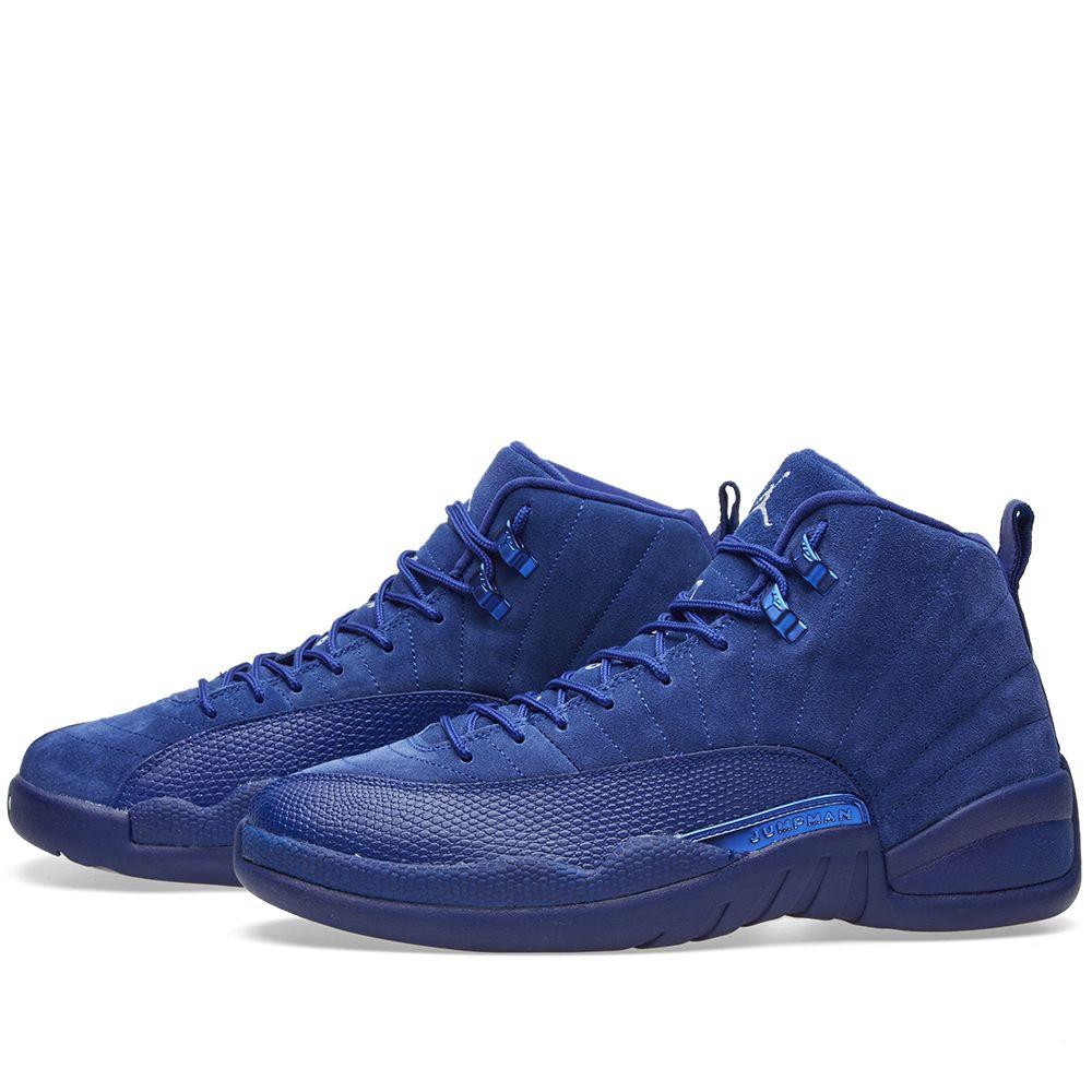 c22d4a4eb751 Nike Air Jordan 12 Retro Deep Royal Blue   White