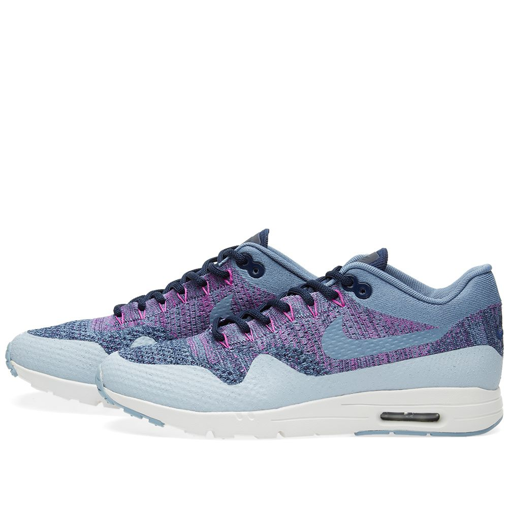 low priced 0b1d1 5bb82 Nike W Air Max 1 Ultra Flyknit. Ocean Fog   Navy.  149  75. Plus Free  Shipping. image