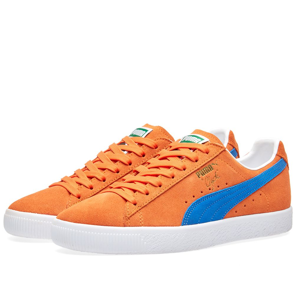 Puma Clyde NYC Vibrant Orange   Royal  63f9584ab