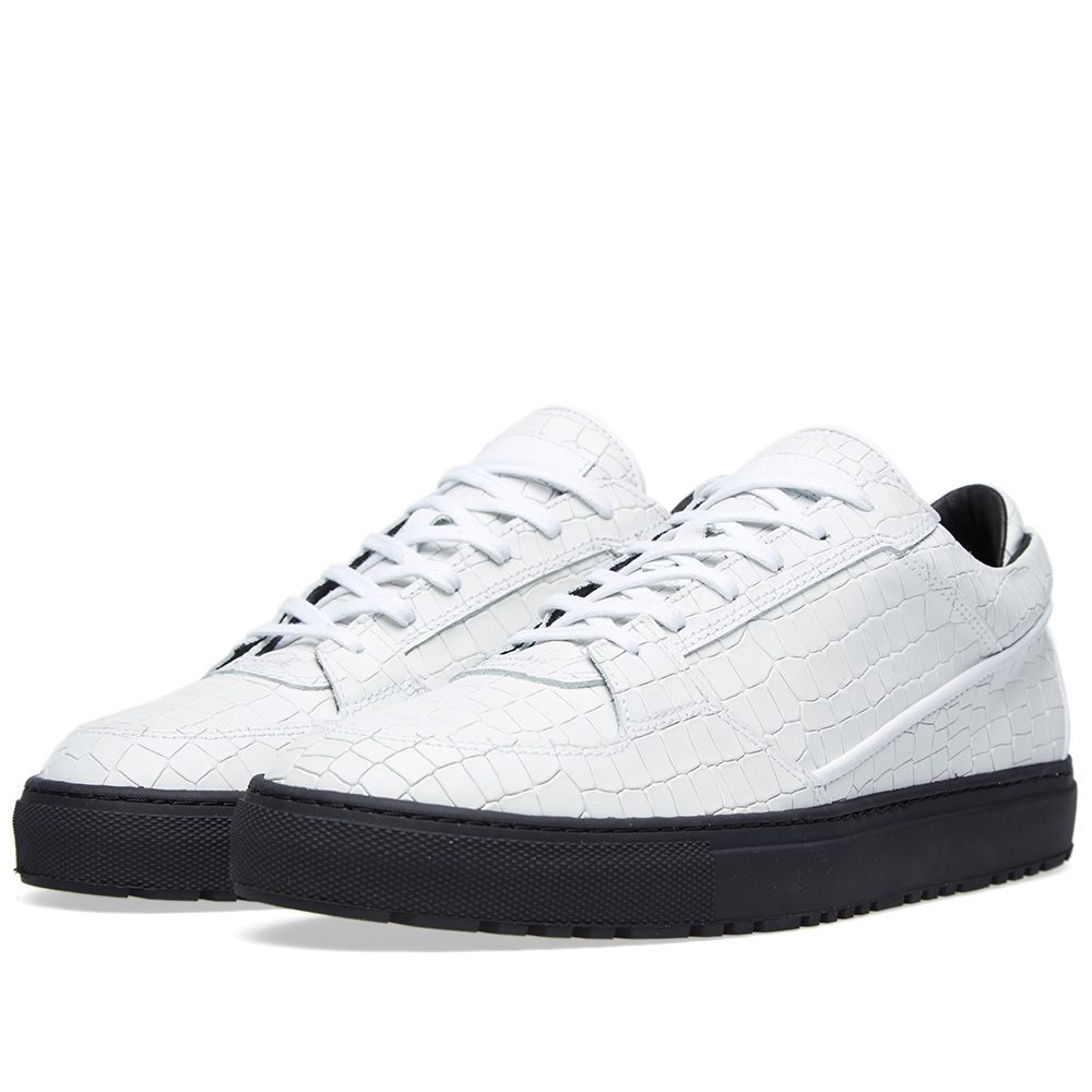 ETQ. Low Top 3 Sneaker White Croc Embossed  afdc3e58bf42
