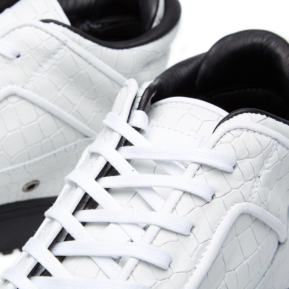 ETQ. Mid Top 2 Sneaker White Croc Embossed  7babd1ca9587