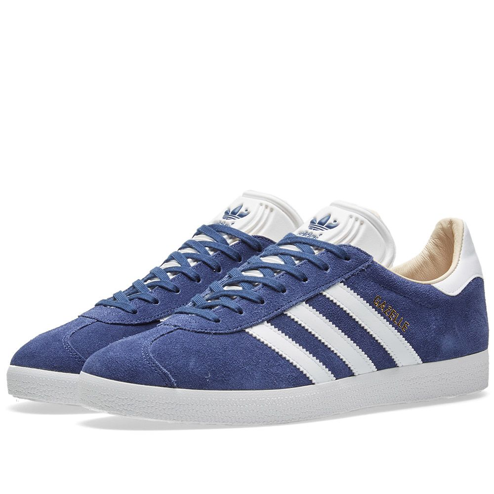 quality design 15a64 806f8 Adidas Gazelle W Noble Indigo, White  Linen  END.