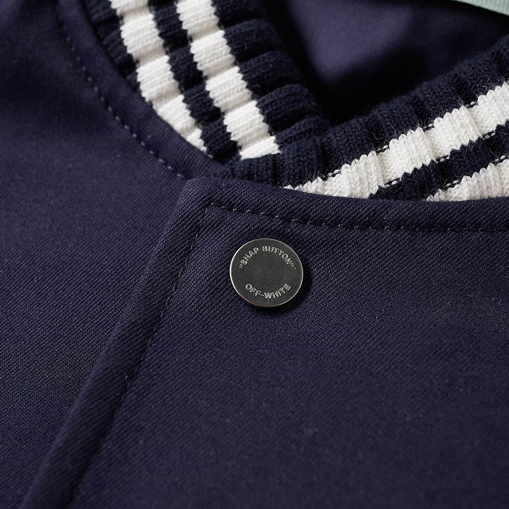 a20b4ad7c49f Off-White Patch Varsity jacket Blue