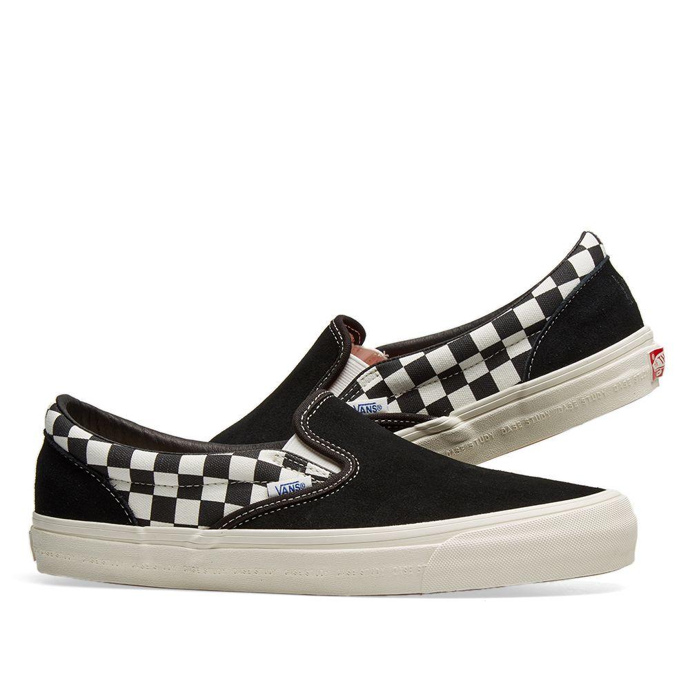 46b1b39c5bf Vans Vault x Modernica OG Classic Slip On LX Black   Checkerboard