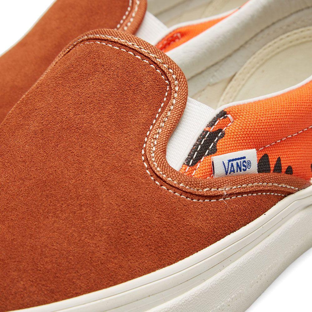1ca63c598daec3 Vans Vault x Modernica OG Classic Slip-on LX Leather Brown ...