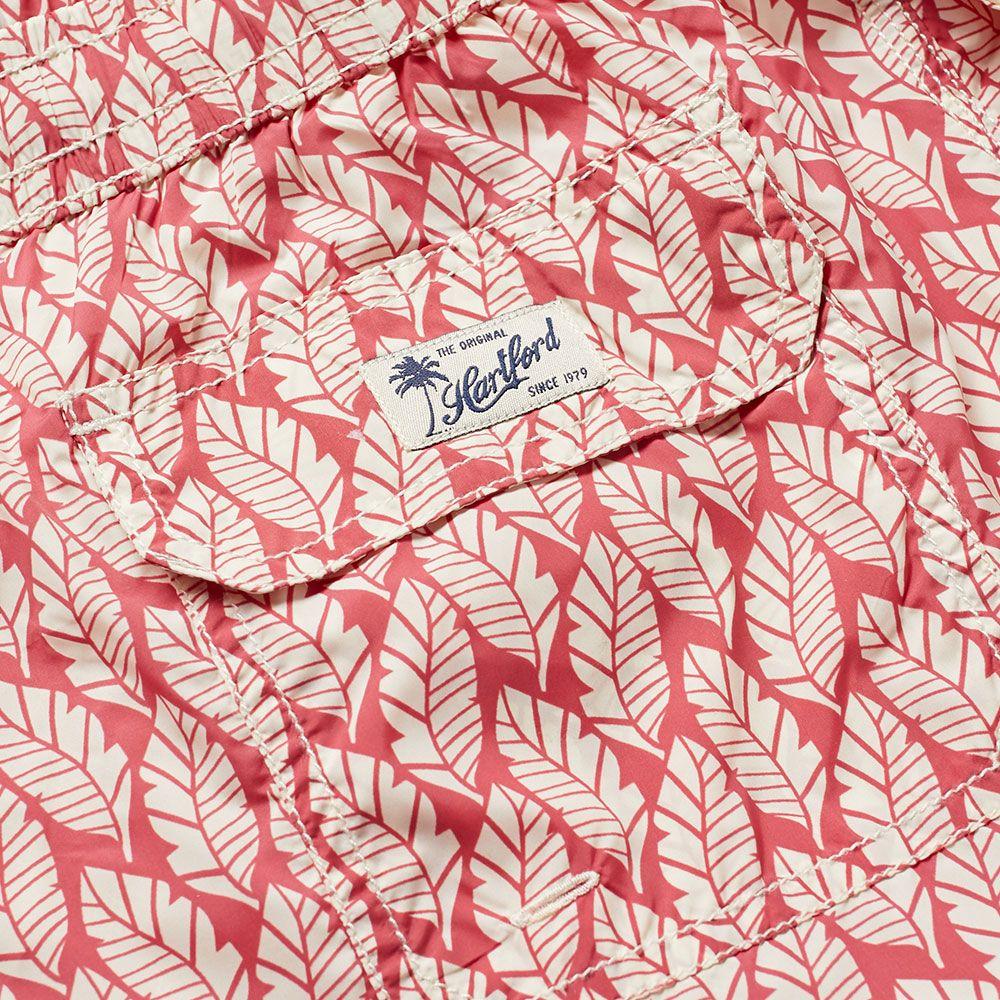6cbfc50719d5 Hartford Fan Print Swim Short Red   White