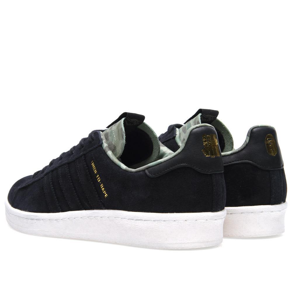 e3315fbea0a9 Adidas Consortium x BAPE x Undefeated Campus 80s Black