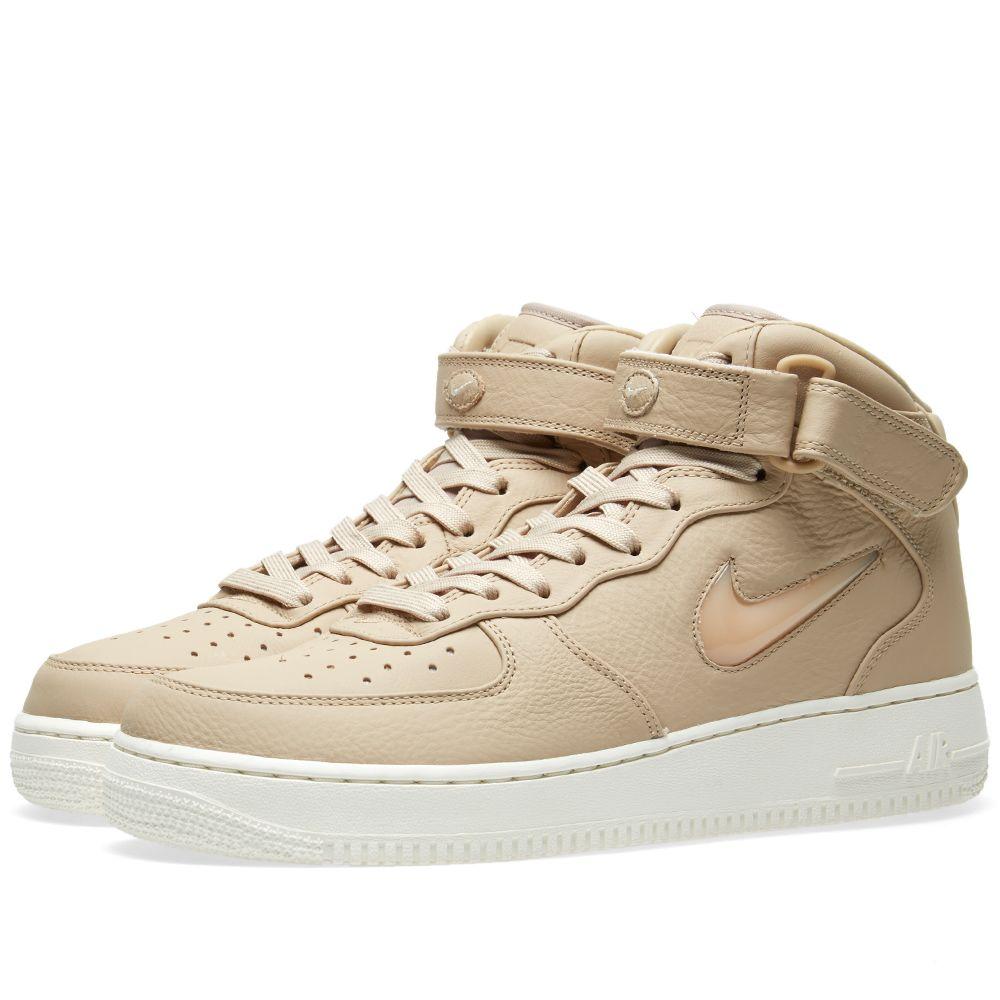Nike Air Force 1 Premium Retro Mid  Jewel . Mushroom   Sail. £125. image 47aa58c5bf