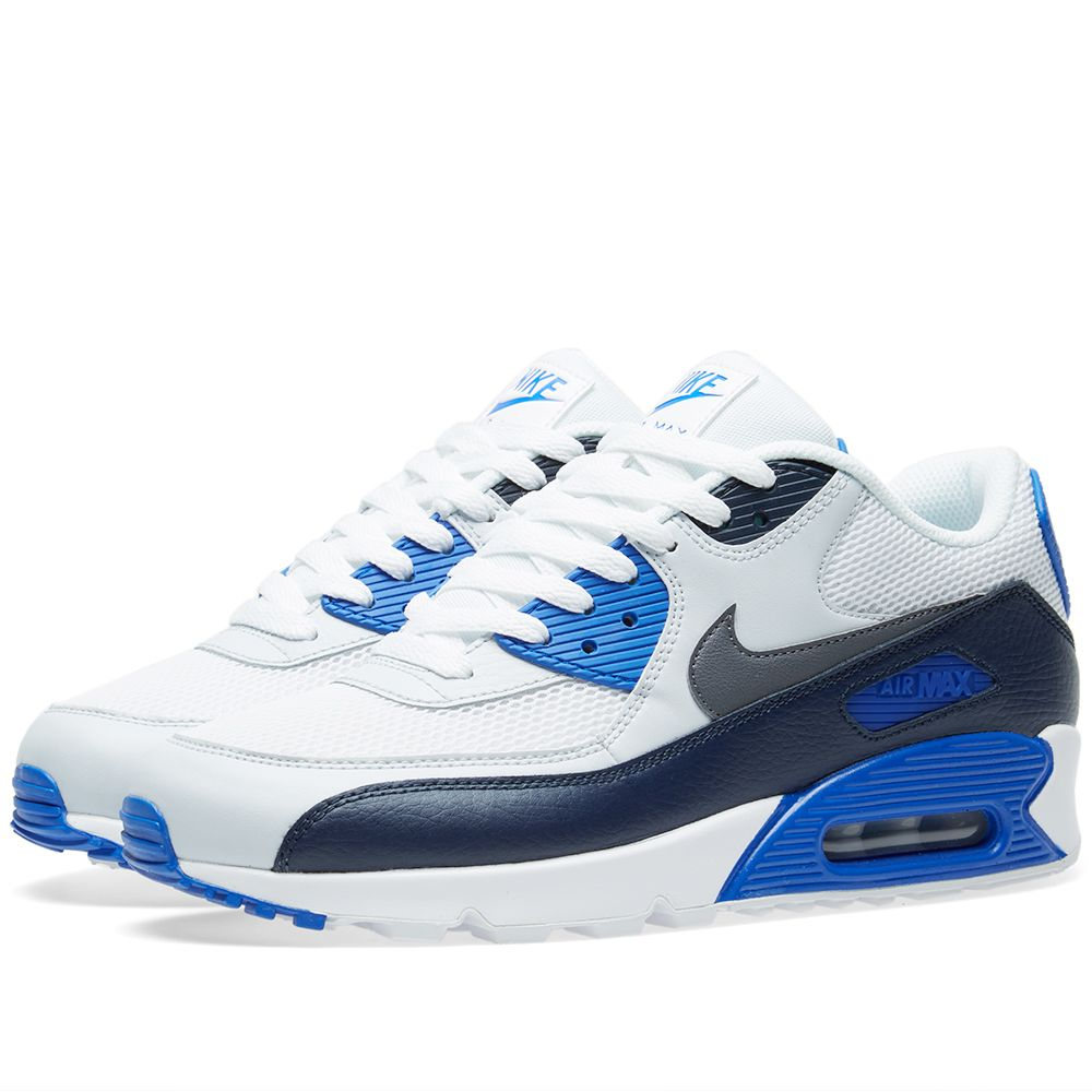 sports shoes 56aa6 0e5bc Nike Air Max 90 Essential Obsidion  Dark Grey  END.