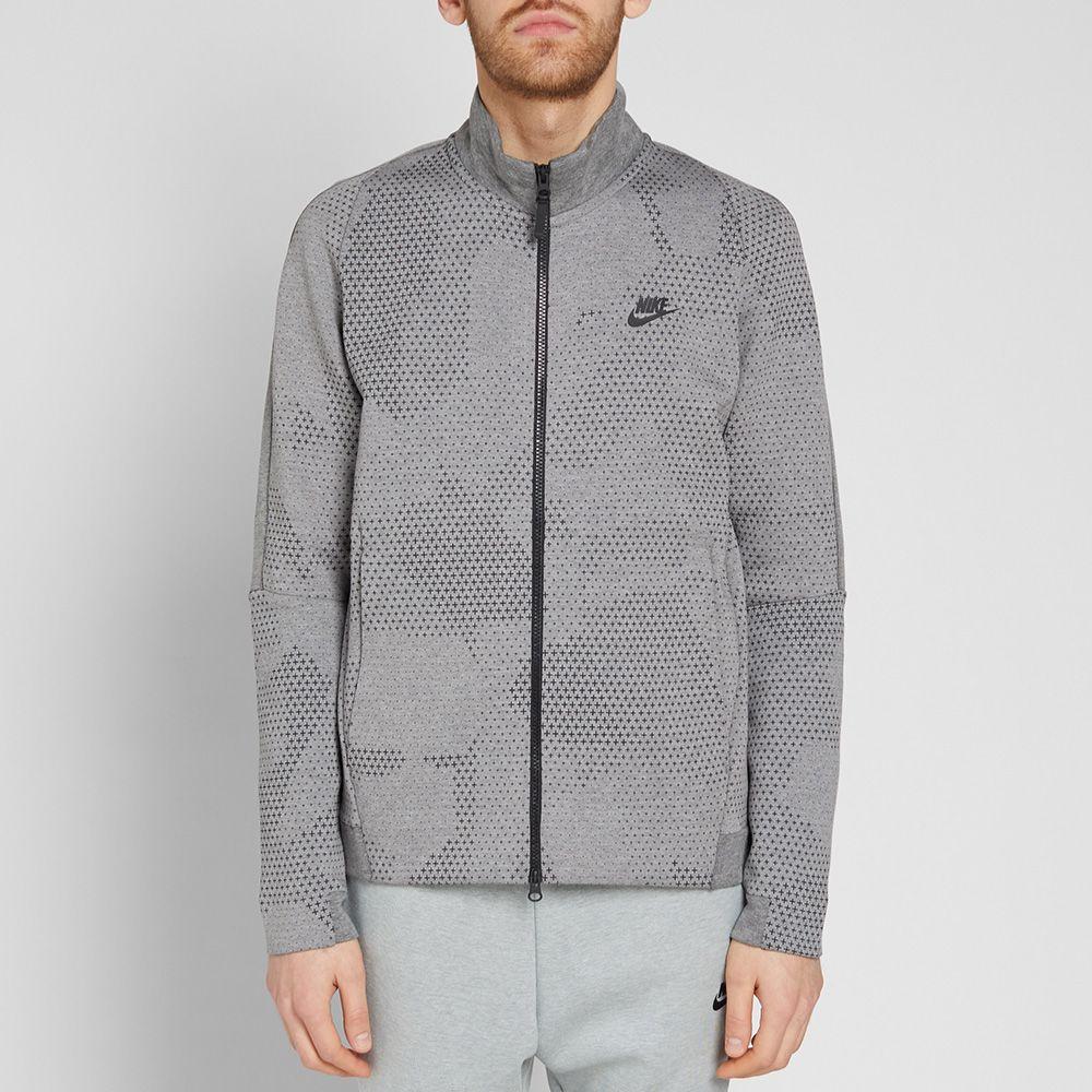 6b0e1986c1ef Nike Tech Fleece Jacket GX 1.0 Carbon Heather   Black