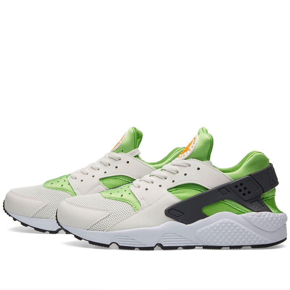 29ec77723de66 Nike Air Huarache Action Green   White