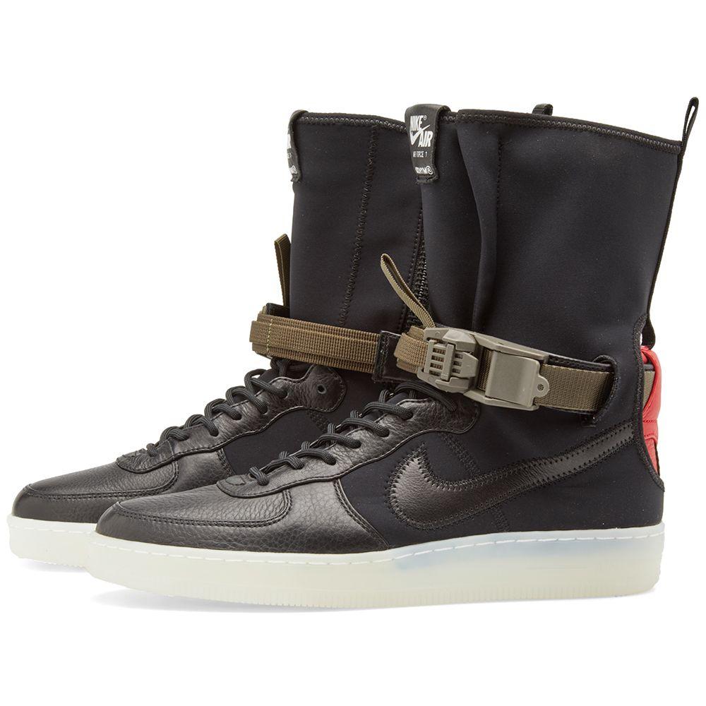 buy popular 8f5b8 b540d Nike x Acronym Air Force 1 Downtown Hi SP Black  Bright Crim