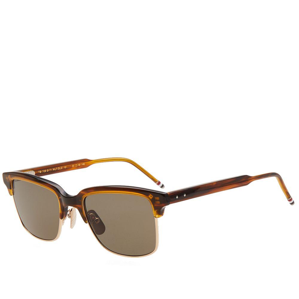 8d8694cef9ef Thom Browne TB-709 Sunglasses Walnut   G-15