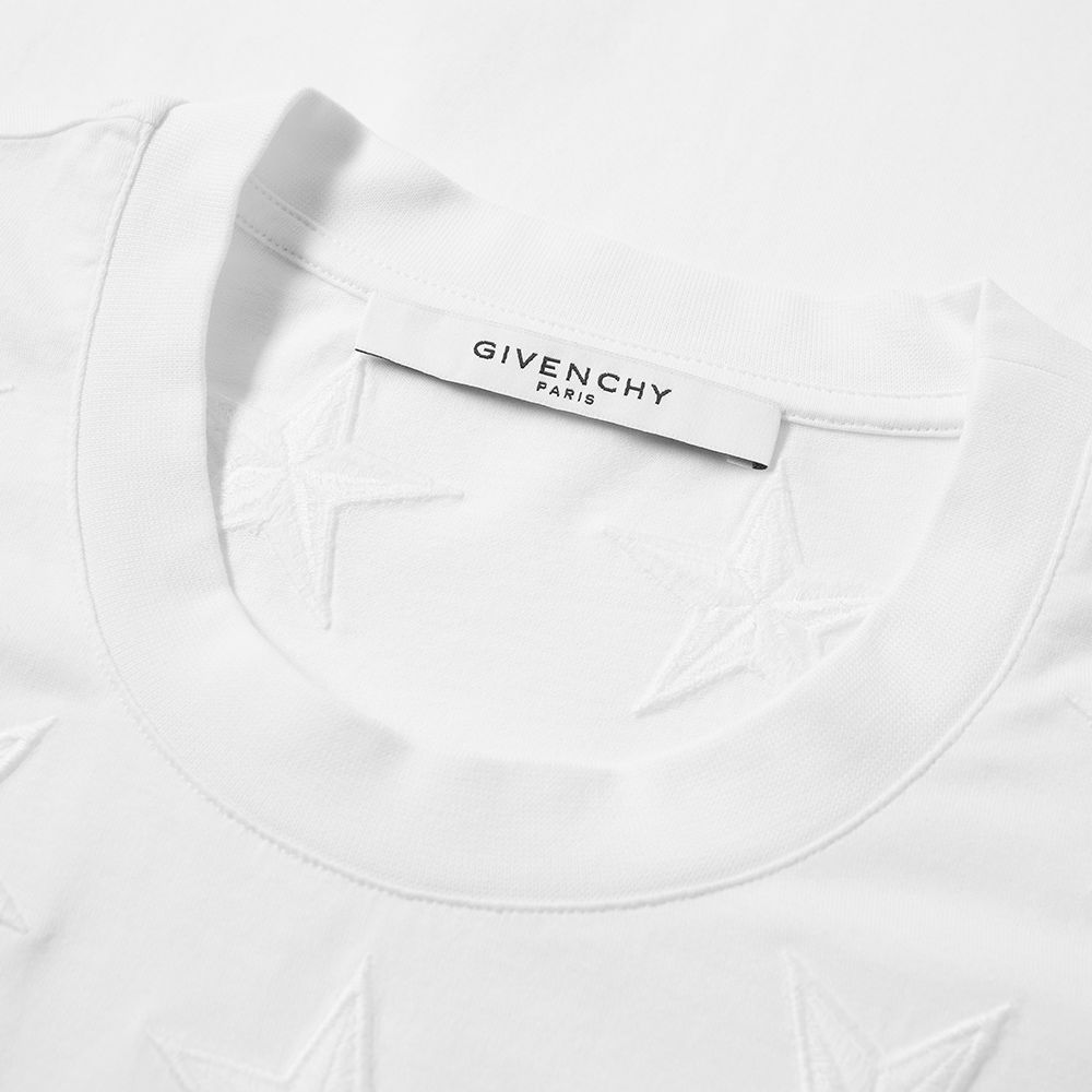 7bef2ee0807 Givenchy Embroidered Star Tee White   Black