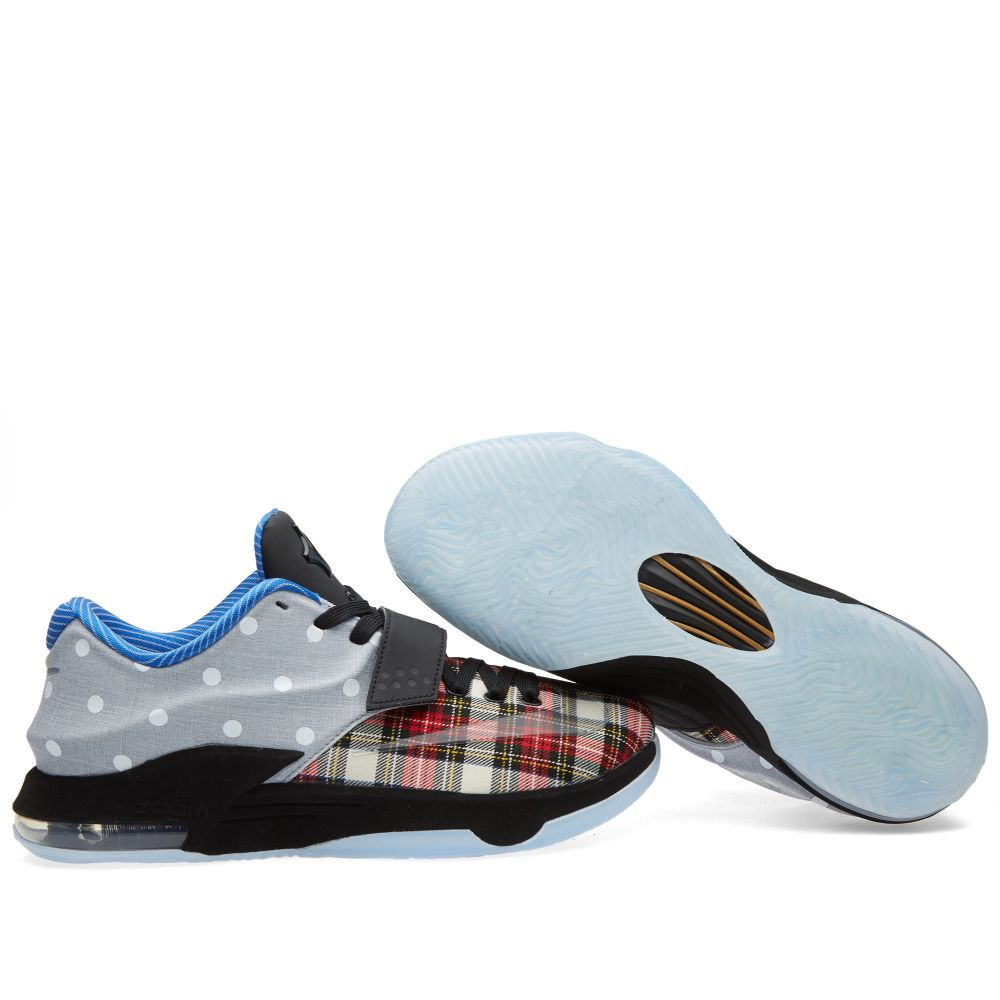 174924e2741a Nike KD VII EXT Canvas QS  Plaid   Polka Dots . University Red