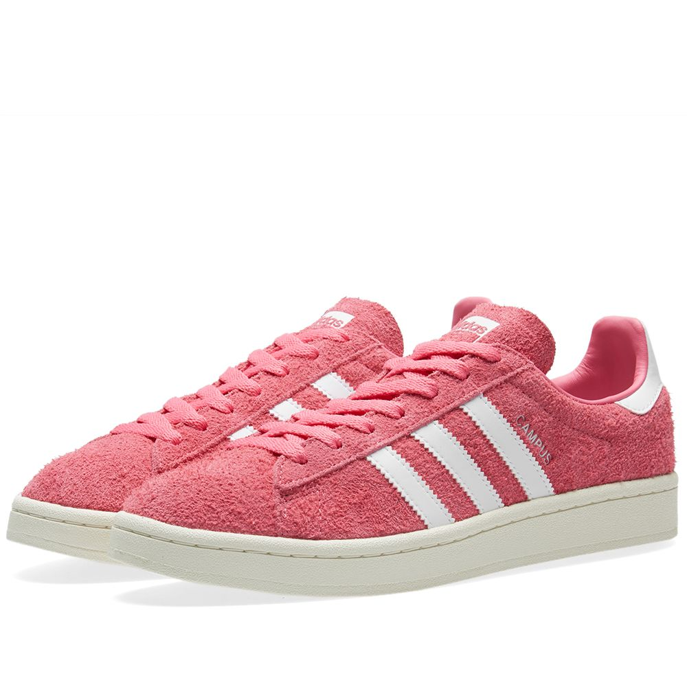 brand new f4b6c 6e4aa Adidas Campus Semi Solar Pink  White  END.
