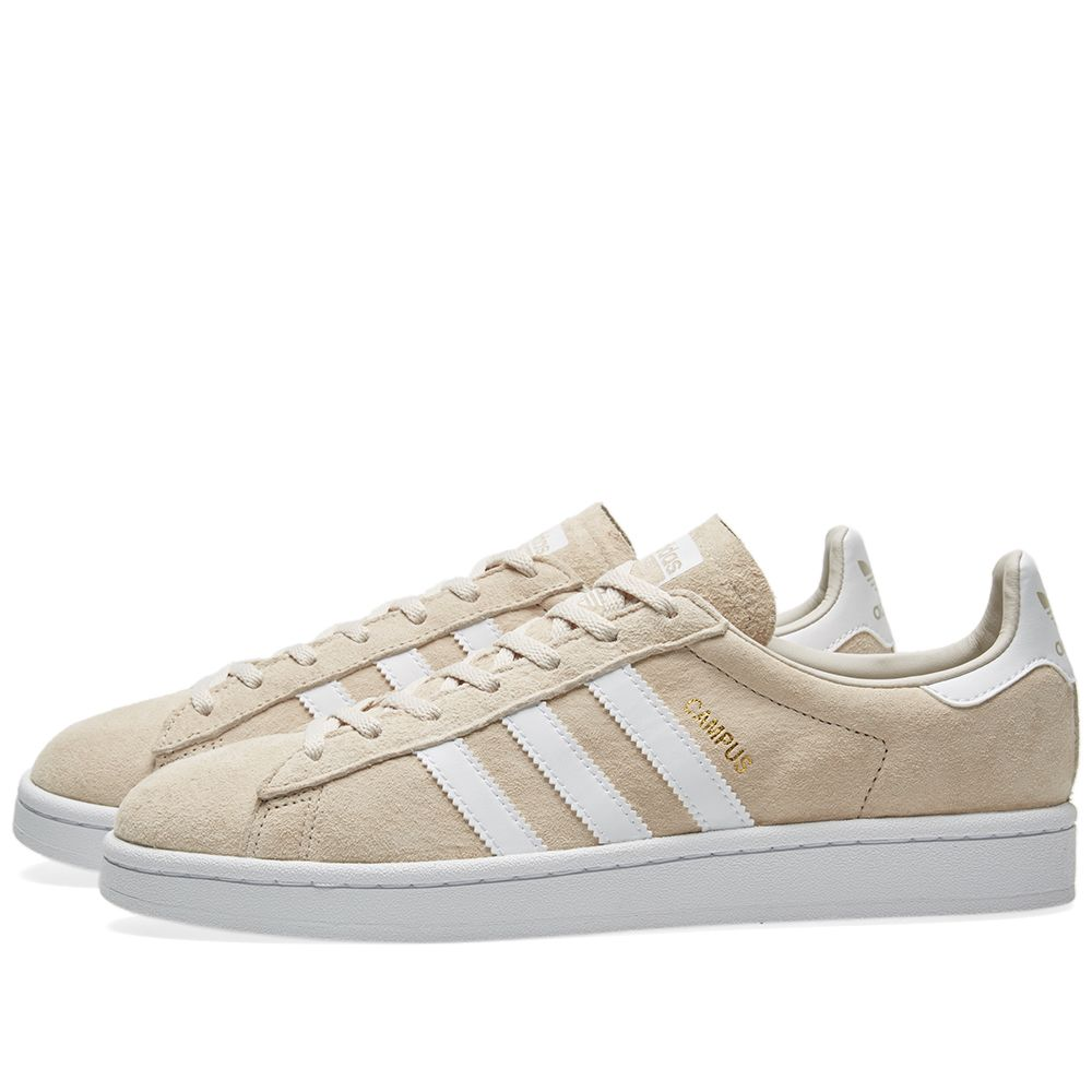 the best attitude e77ba c436a Adidas Campus W Clear Brown  Crystal White  END.