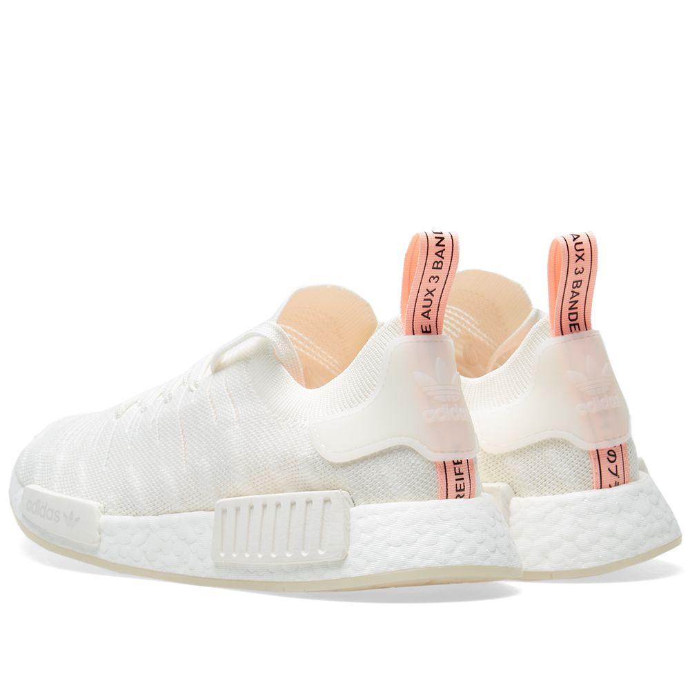 Adidas NMD R1 STLT PK W Cloud White   Clear Orange  036a293ac