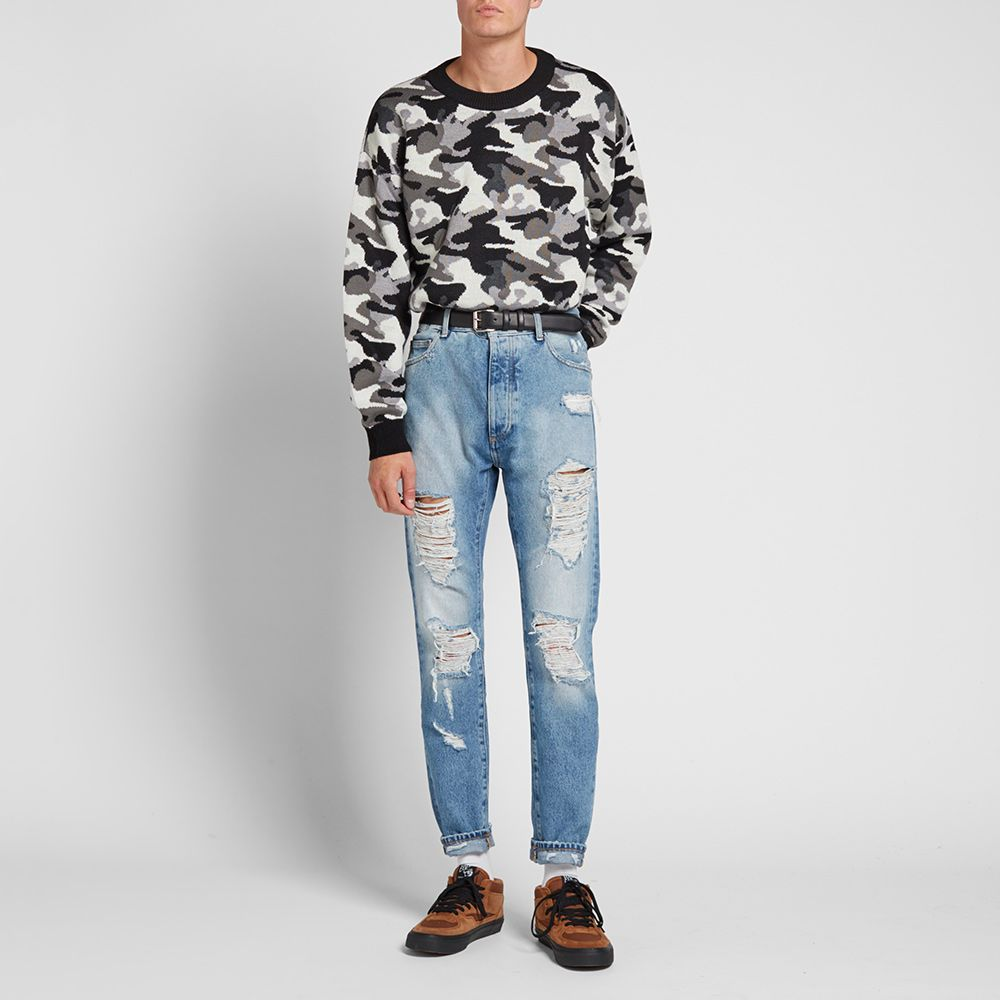 079f31bbb Gosha Rubchinskiy Oversize Jacquard Sweater Grey Camo