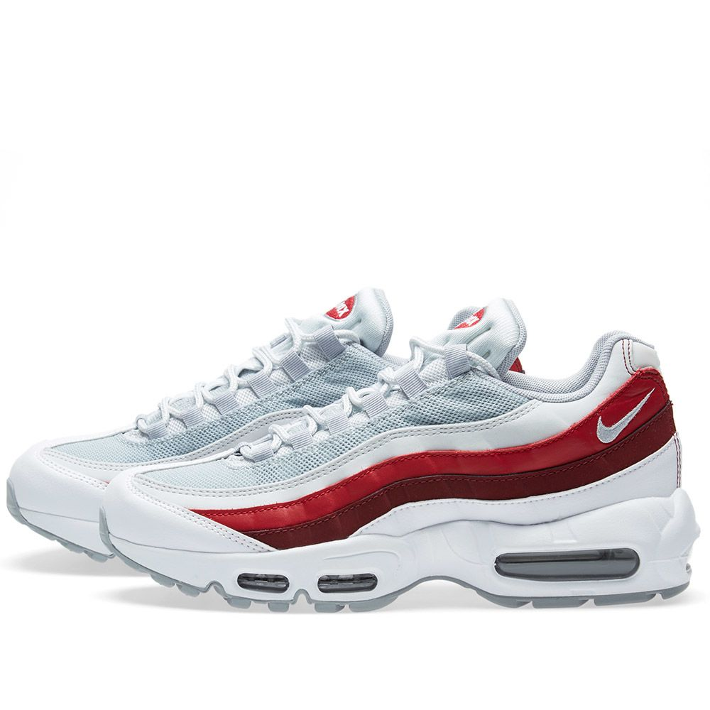 uk availability ff86b 32105 nike air max 95 essential red Nike Air Max 95 Essential White, Wolf Grey