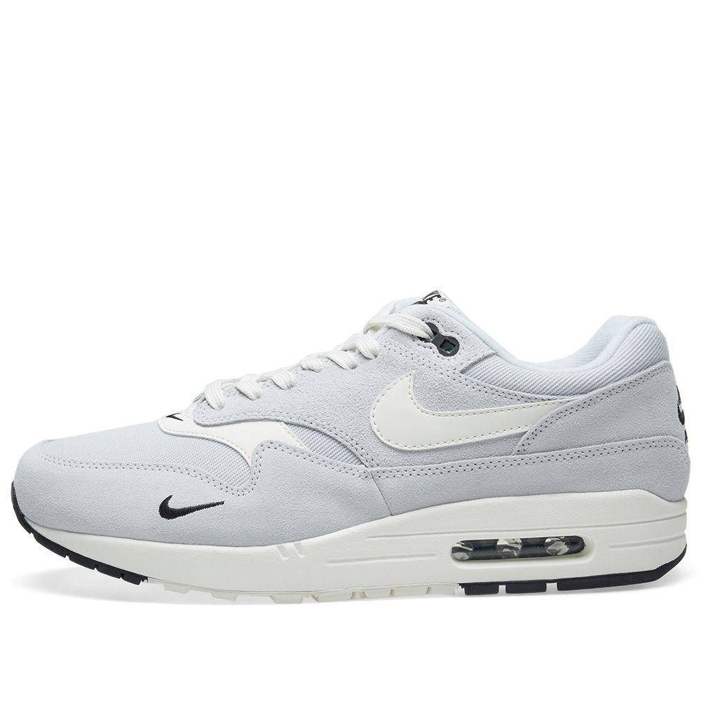 purchase cheap 575ad 80d17 Nike Air Max 1 Premium Platinum, Sail, Black  White  END.