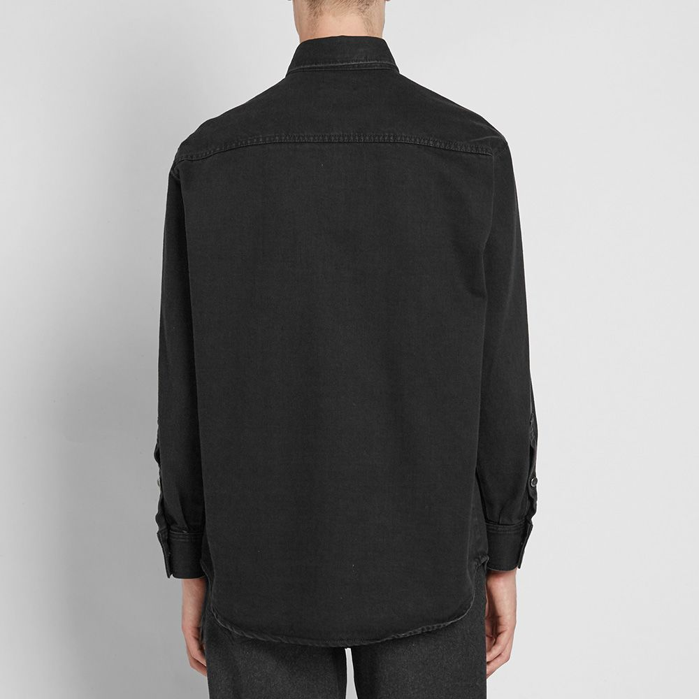 0edd3aca18e Raf Simons Patch Denim Shirt Black