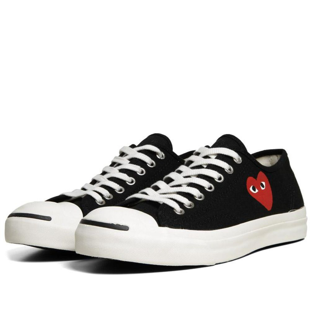 Comme des Garcons Play x Converse Jack Purcell Ox Black   Red  636e39150