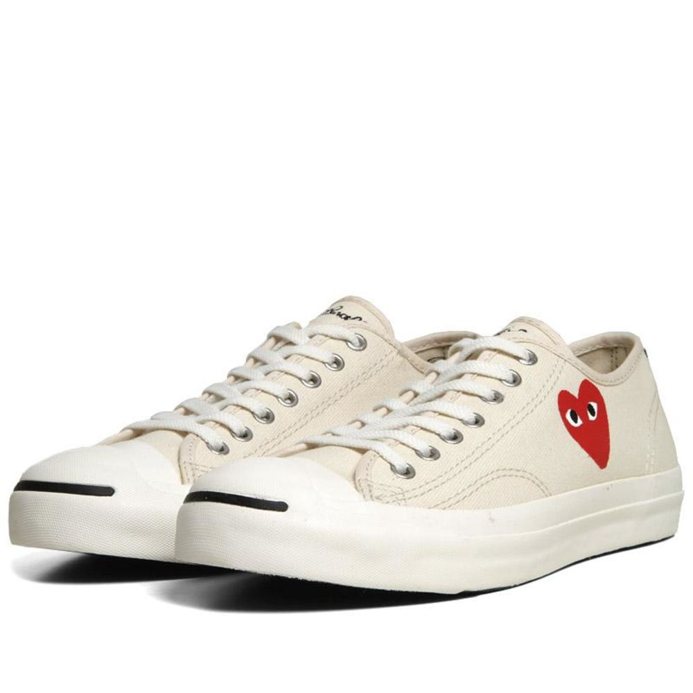 Comme des Garcons Play x Converse Jack Purcell Ox White   Red  f6e150b1d