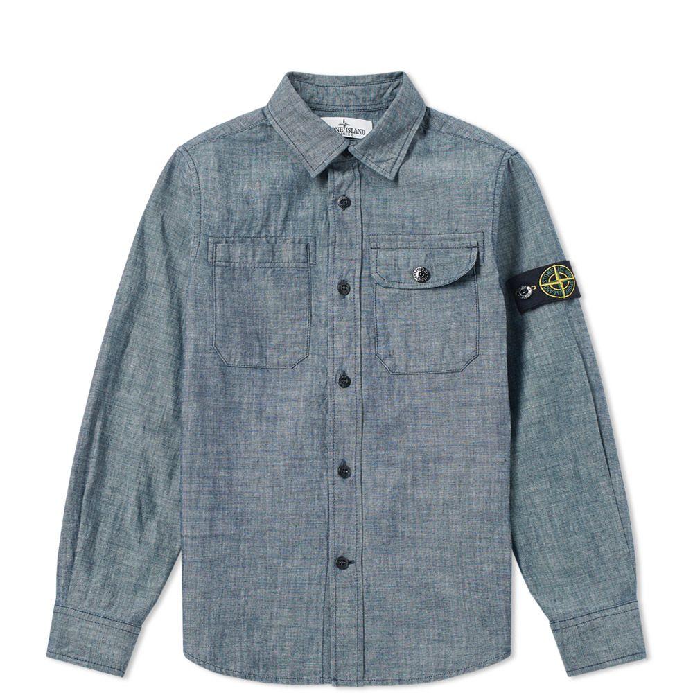 98125d4ff8 Stone Island Junior Chambray Shirt Washed