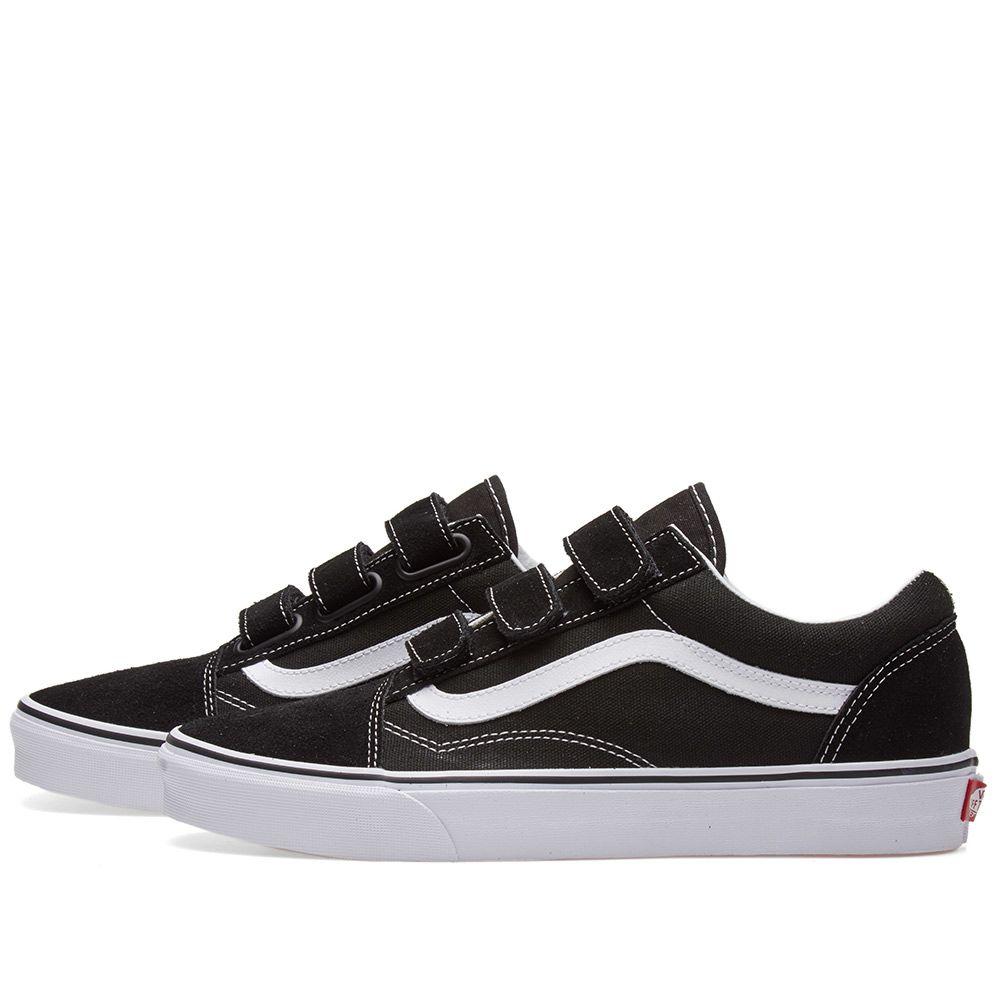 49921a86ac09f6 Vans Old Skool V Black   True White
