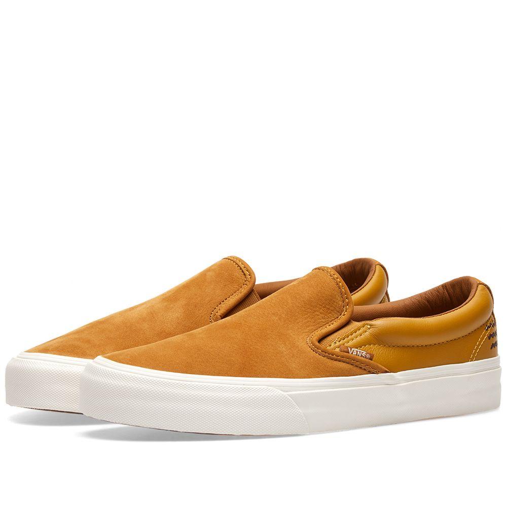 5a94fca47c58 Vans Vault Taka Hayashi Slip On 66 LX Golden Brown   Harvest Gold