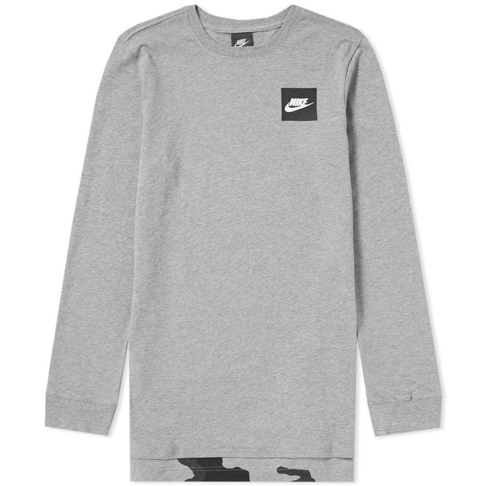 ca4ec88472f13 Nike Long Sleeve AOP Tee Dark Grey Heather | END.