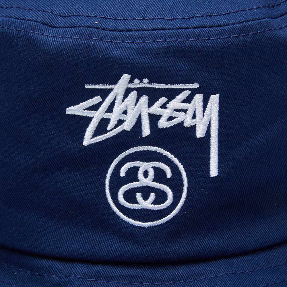 Stussy Stock Lock HO14 Bucket Hat. Navy.  59  39. image c09c01ed9377