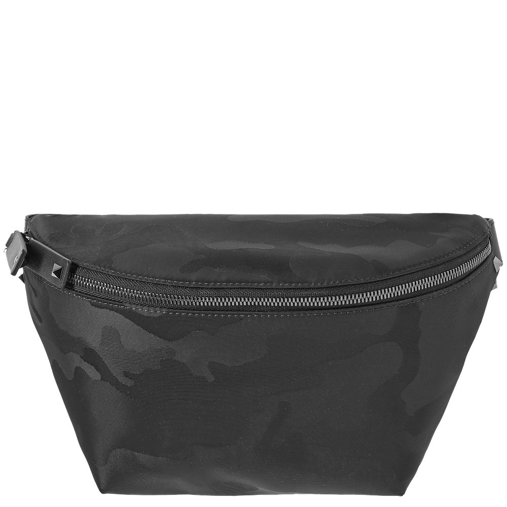 6f9ce667520 Valentino Nylon Jacquard Waist Bag Black Camo