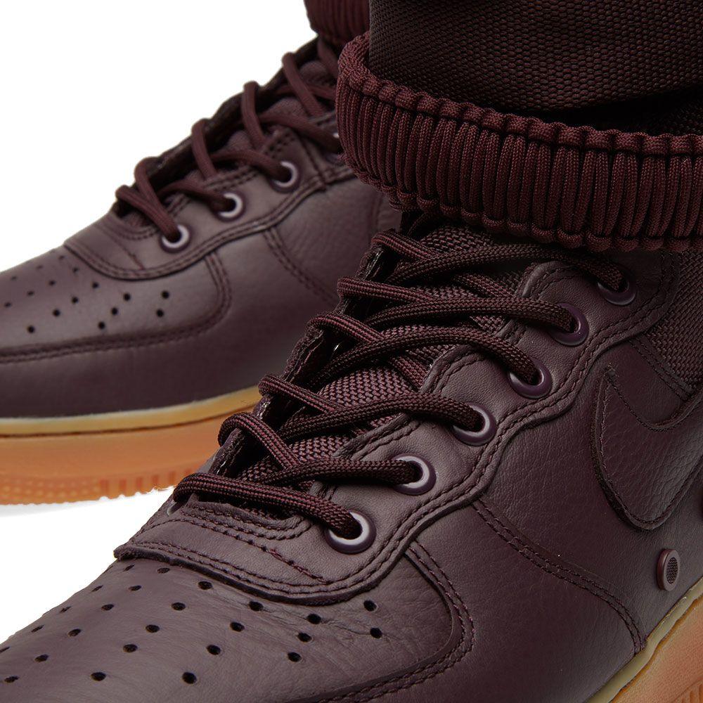 03ecba455128 Nike SF Air Force 1 Boot Deep Burgundy