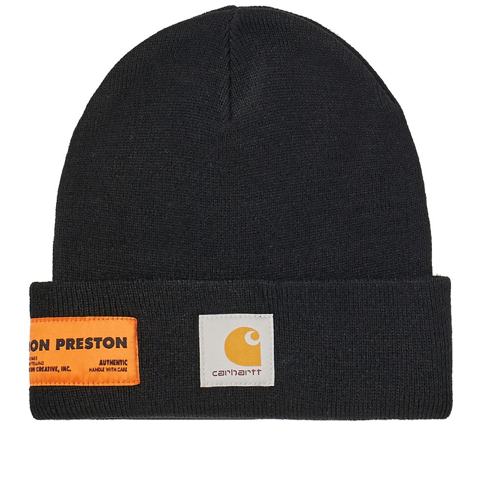 Heron Preston x Carhartt WIP Beanie Black   Crystal  9fa123cf639