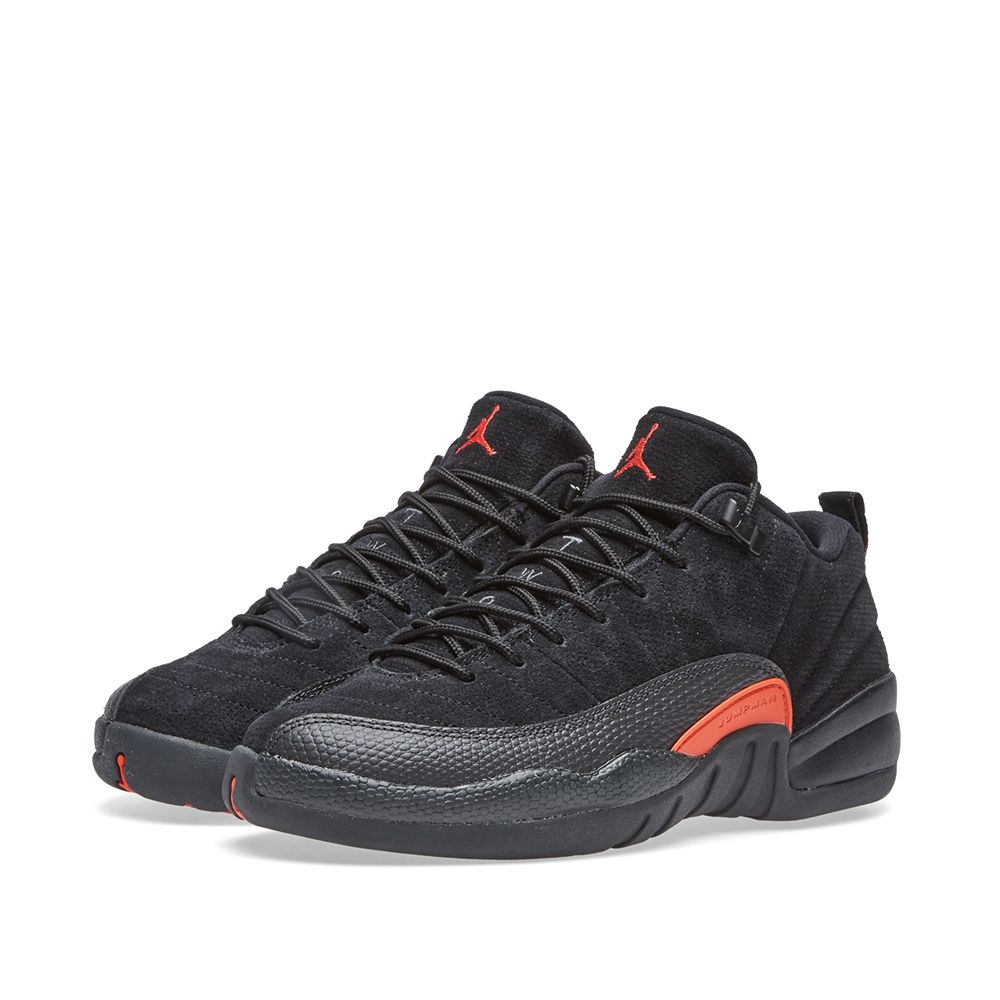big sale 0c8f1 256a6 Nike Air Jordan 12 Retro Low BG Black, Max Orange   Anthracite   END.