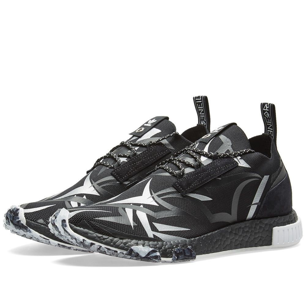 868dbf6c81b27 Adidas Consortium x Juice NMD Racer Core Black   White