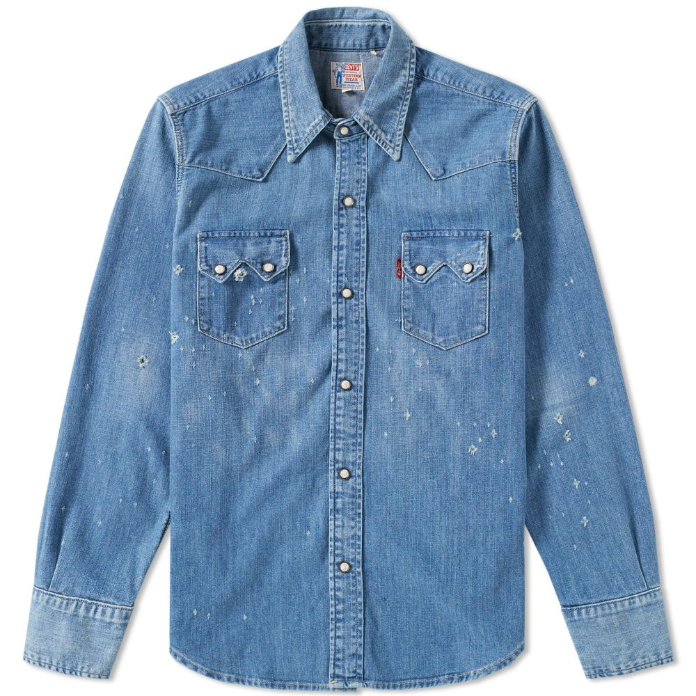 6dfff6792f Levi s Vintage Clothing 1955 Sawtooth Denim Shirt Wild Thyme